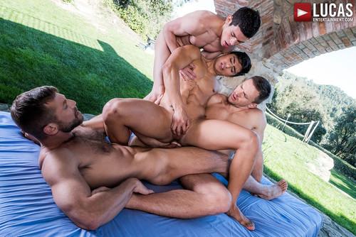 Four-Way Fag Breeding: Andrey, Bulrog, Ricky & Ken – Fag Fuckers (Lucas Ent.)